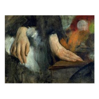 Postal Estudio de manos, 1859-60 de Edgar Degas el  