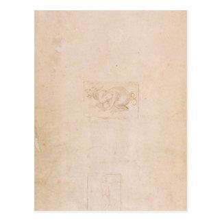 Postal Estudio W.54 de un dragón