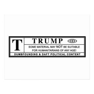 Postal Etiqueta de advertencia de Donald Trump