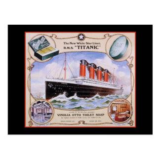 Postal Etiqueta titánica del jabón