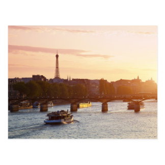 Postal Europa, Francia, París (75), barco turístico