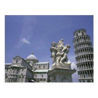 Postal Europa, Italia, Pisa, torre inclinada de Pisa