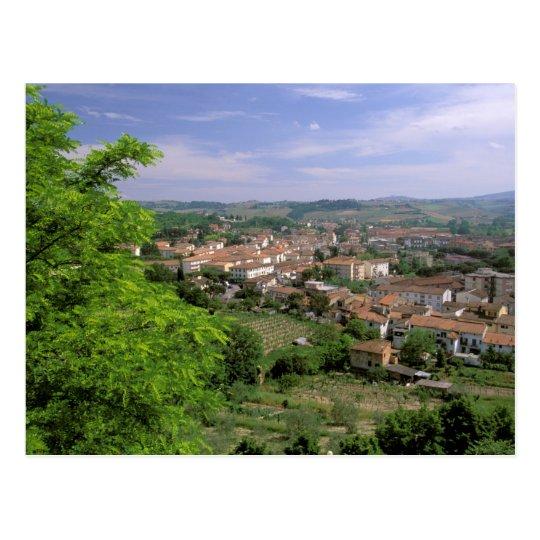 Postal Europa, Italia, Toscana, Certaldo. Colina medieval