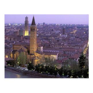 Postal Europa, Italia, Véneto, Verona. Visión desde