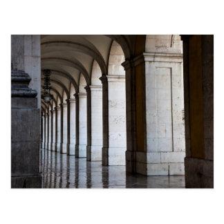 Postal Europa, Portugal, Lisboa. Columnas de la arcada