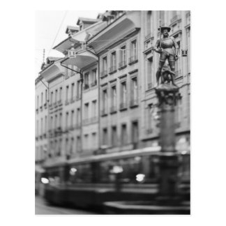 Postal Europa, Suiza, Berna. Tranvía, Marktgasse