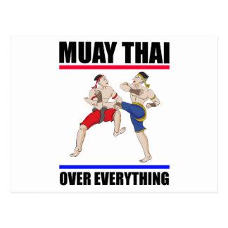 Postal Excesivo tailandés de Muay todo