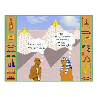 Postal Explicación de las pirámides
