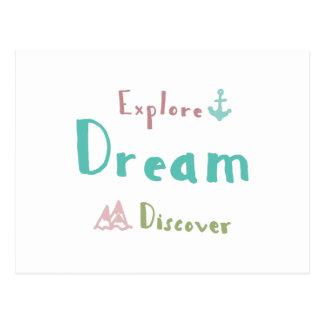 Postal Explore el sueño descubren