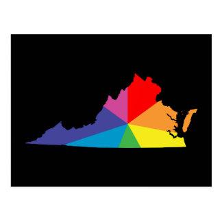 Postal explosión de color de Virginia