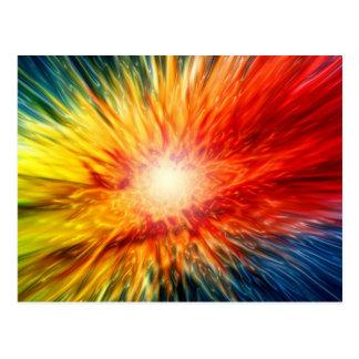 Postal Explosión de color del arco iris