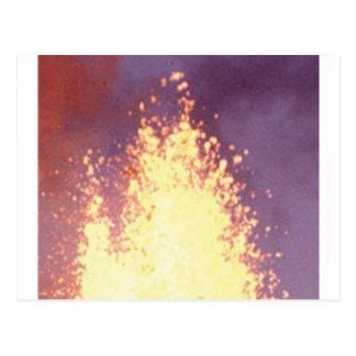 Postal explosión del fuego