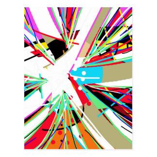 Postal Explosión grande colorida