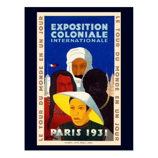 Postal Exposición colonial París 1931