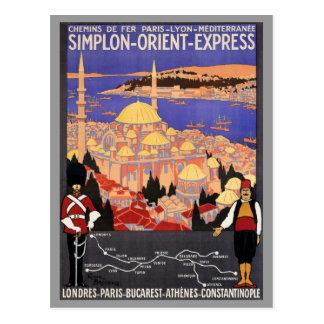 Postal Expreso de Simplon Oriente a Constantinopla