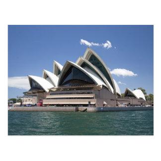Postal Exterior del teatro de la ópera de Sydney, Sydney,