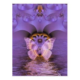 Postal Extracto púrpura de la mariposa