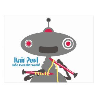Postal Extranjero lindo del robot del hilado de las