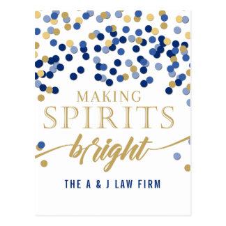 Postal Fabricación del día de fiesta de Spirits Bright