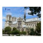 Postal Fachada del sur, catedral de Notre Dame, París,