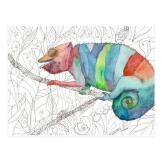 Postal Fall del camaleón