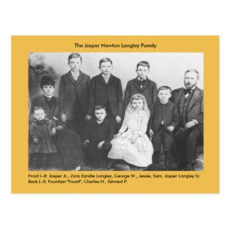 Postal Familia de Newton Langley del jaspe