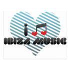 Postal Fan de música de Ibiza