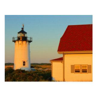 Postal Faro Cape Cod del punto de la raza