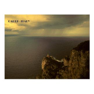 Postal Faro de Capri - de Punta Carena