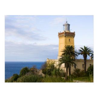 Postal Faro de Tánger Marruecos en el casquillo Spartel