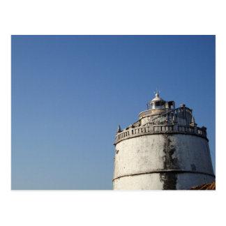 Postal Faro Goa la India de Aguada del fuerte