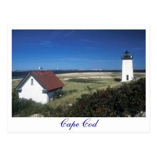 Postal Faro largo del punto, Provincetown mA Cape Cod