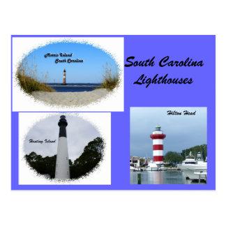 Postal Faros de Carolina del Sur