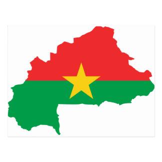Postal FB del mapa de la bandera de Burkina Faso
