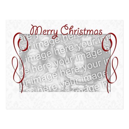 Postal Felices Navidad blancas rojas
