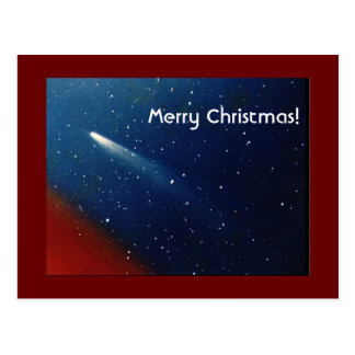 Postal ¡Felices Navidad! Cometa Kohoutek