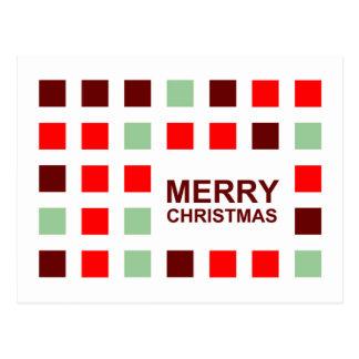 Postal Felices Navidad (cuadrados de la MOD)