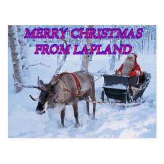 Postal Felices Navidad de Laponia