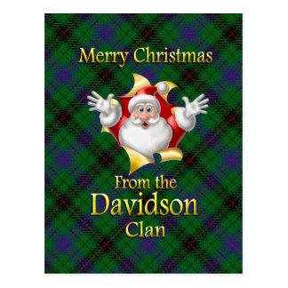 Postal Felices Navidad del clan de Davidson