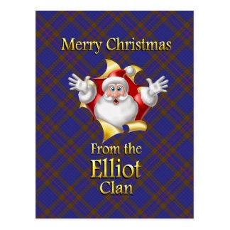 Postal Felices Navidad del clan de Elliot