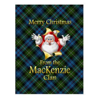 Postal Felices Navidad del clan de MacKenzie