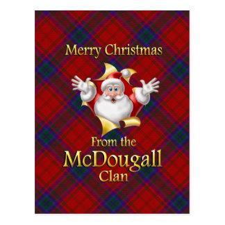 Postal Felices Navidad del clan de McDougall