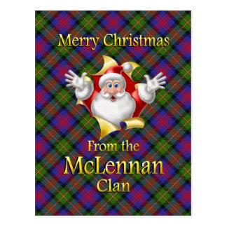 Postal Felices Navidad del clan de McLennan