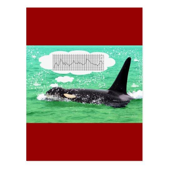 Postal Felices Navidad del mar verde del navidad de la