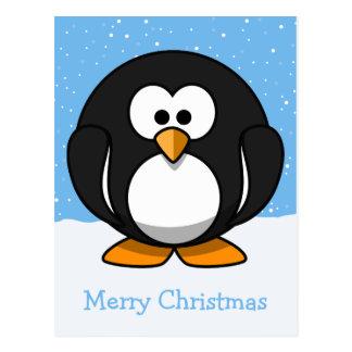 Postal Felices Navidad del pingüino