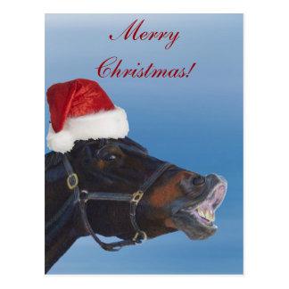 Postal Felices Navidad del potro divertido