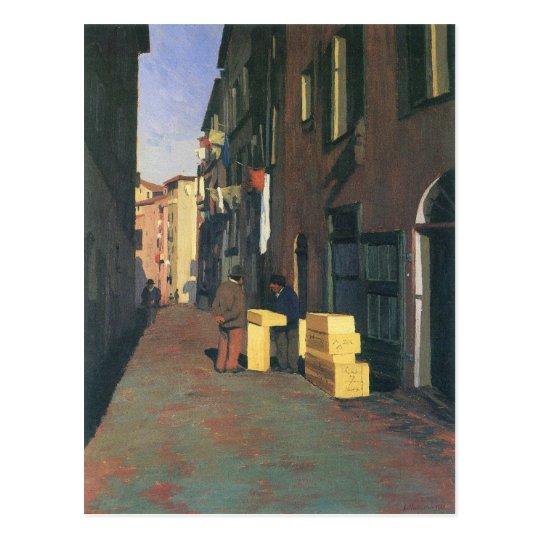 Postal Felix Vallotton - calle vieja en Niza Francia