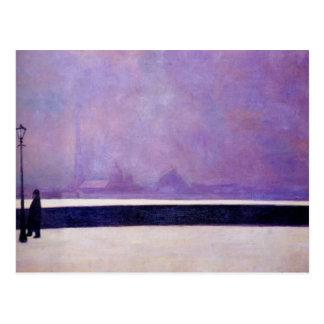 Postal Felix Vallotton - Neva, niebla ligera