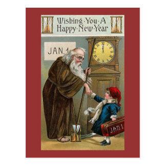 Postal Feliz Año Nuevo del vintage