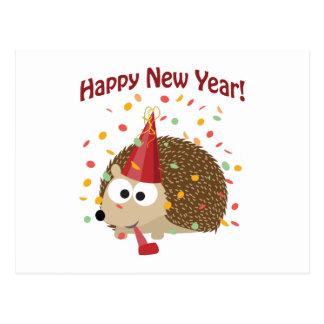 Postal ¡Feliz Año Nuevo! Erizo